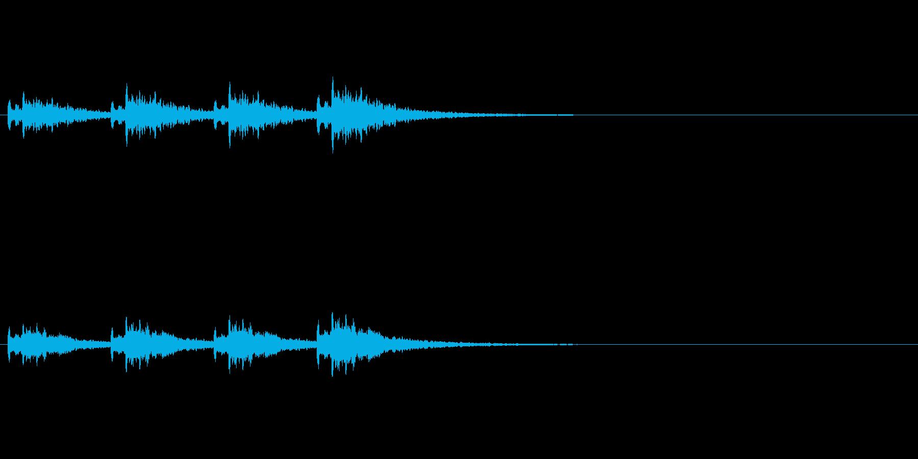 アラーム・お知らせ効果音の再生済みの波形