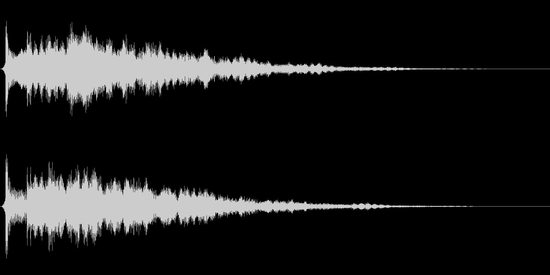 サウンドロゴ想定不思議なエレキギターの未再生の波形