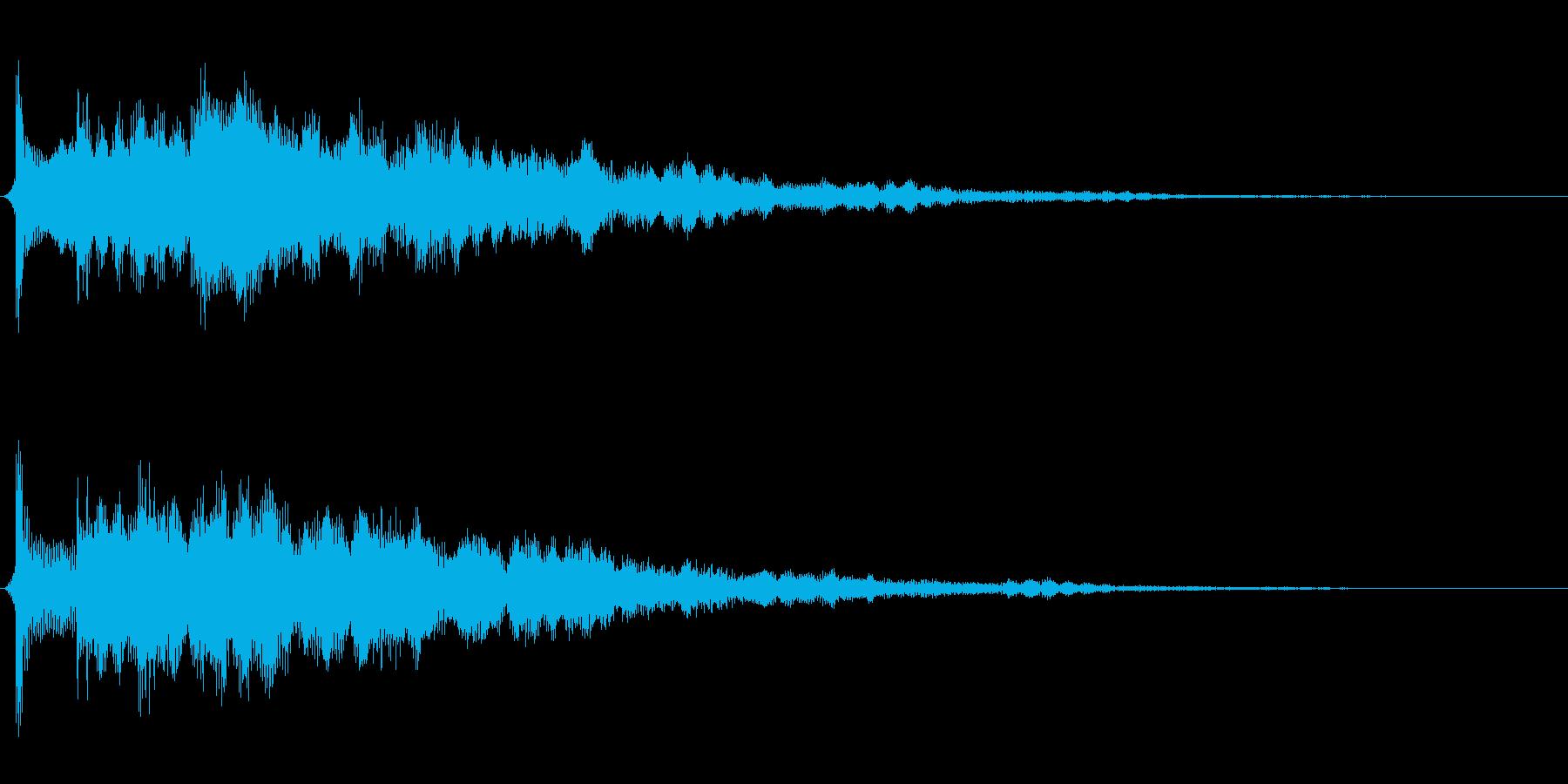 サウンドロゴ想定不思議なエレキギターの再生済みの波形