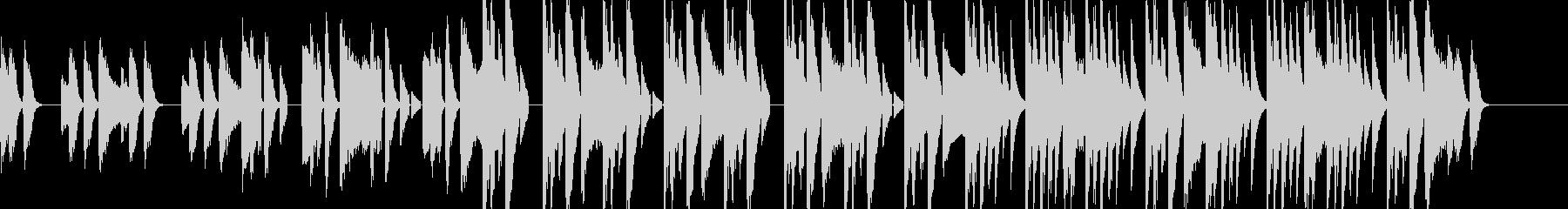 ピアノのリズムが特徴的なポップスグルーヴの未再生の波形