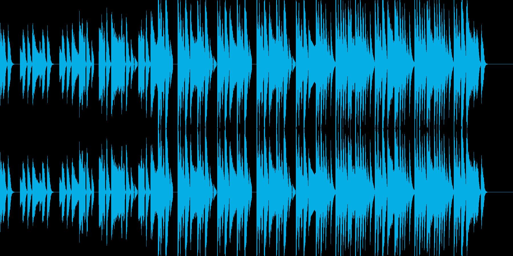 ピアノのリズムが特徴的なポップスグルーヴの再生済みの波形