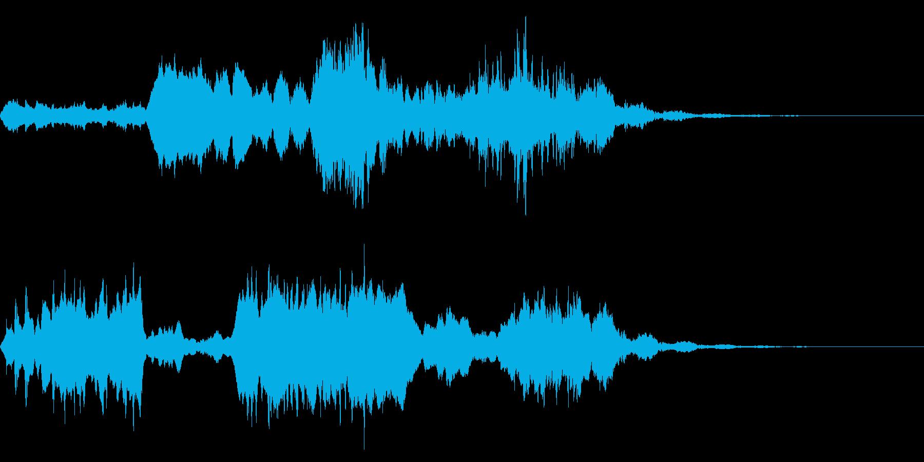 【SE 効果音】奇妙な音8の再生済みの波形