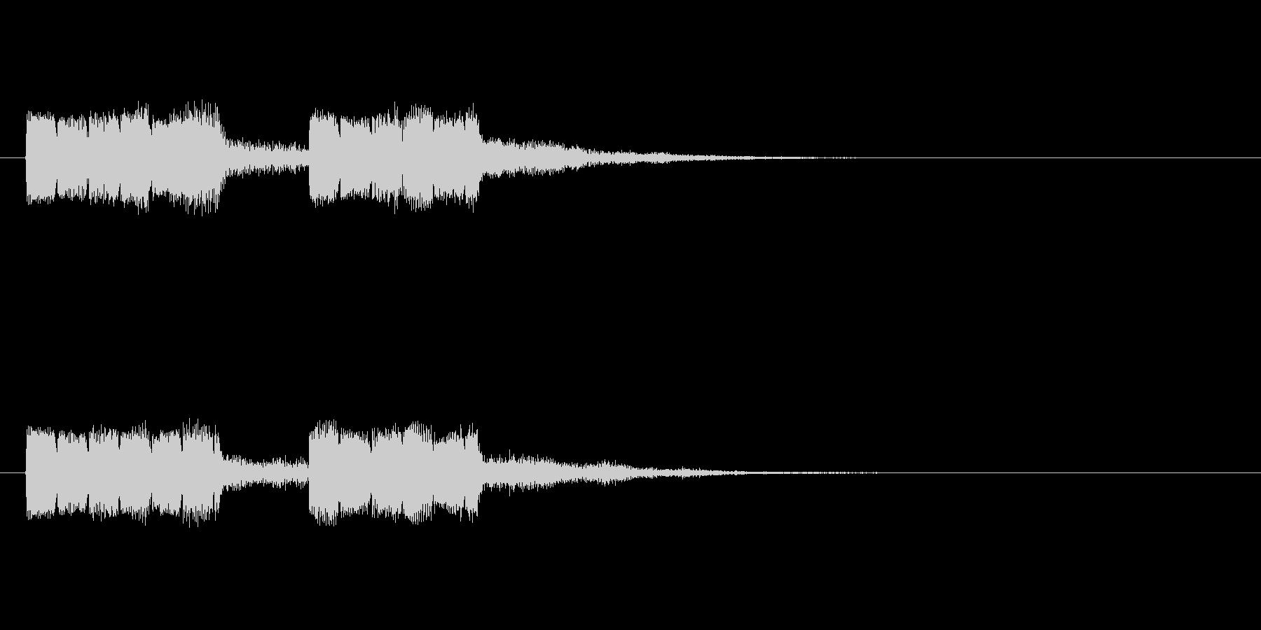 ピョロピョロの未再生の波形