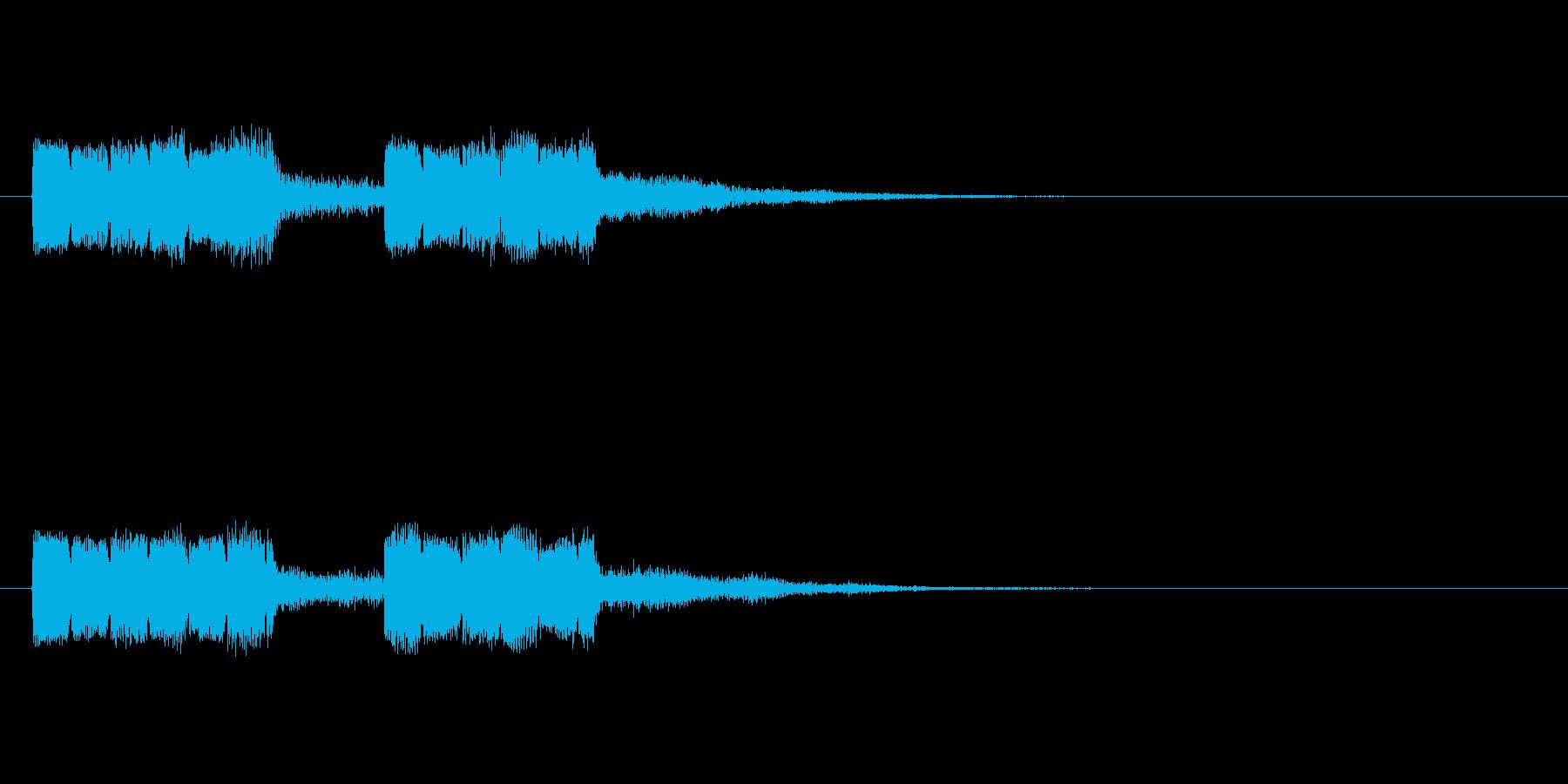 ピョロピョロの再生済みの波形