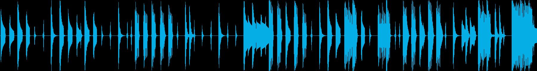 レトロゲーム風の可愛らしいエレクトロニカの再生済みの波形