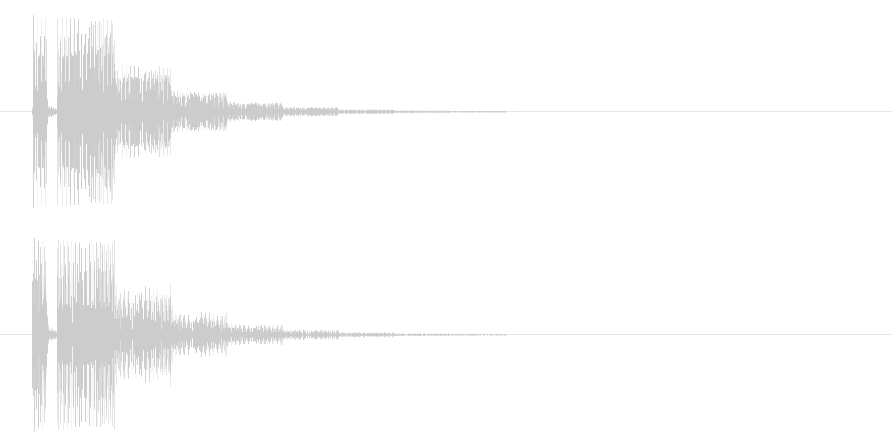 ブッブー(響き有)の未再生の波形