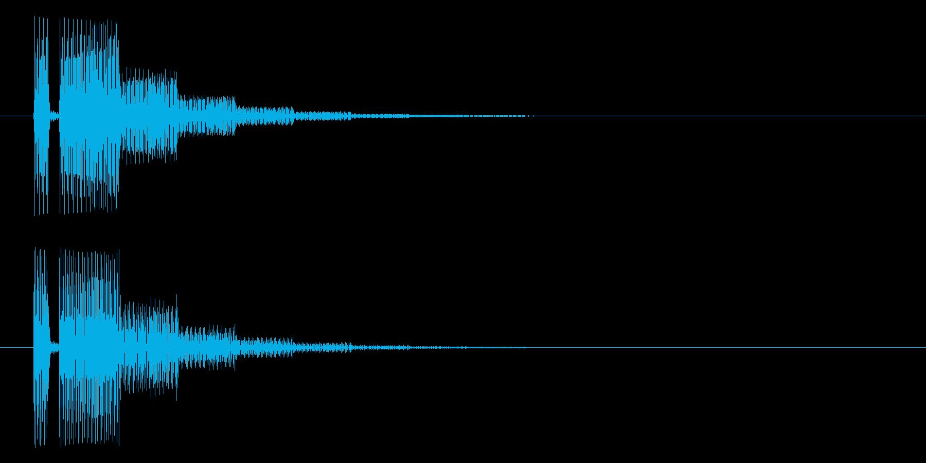 ブッブー(響き有)の再生済みの波形