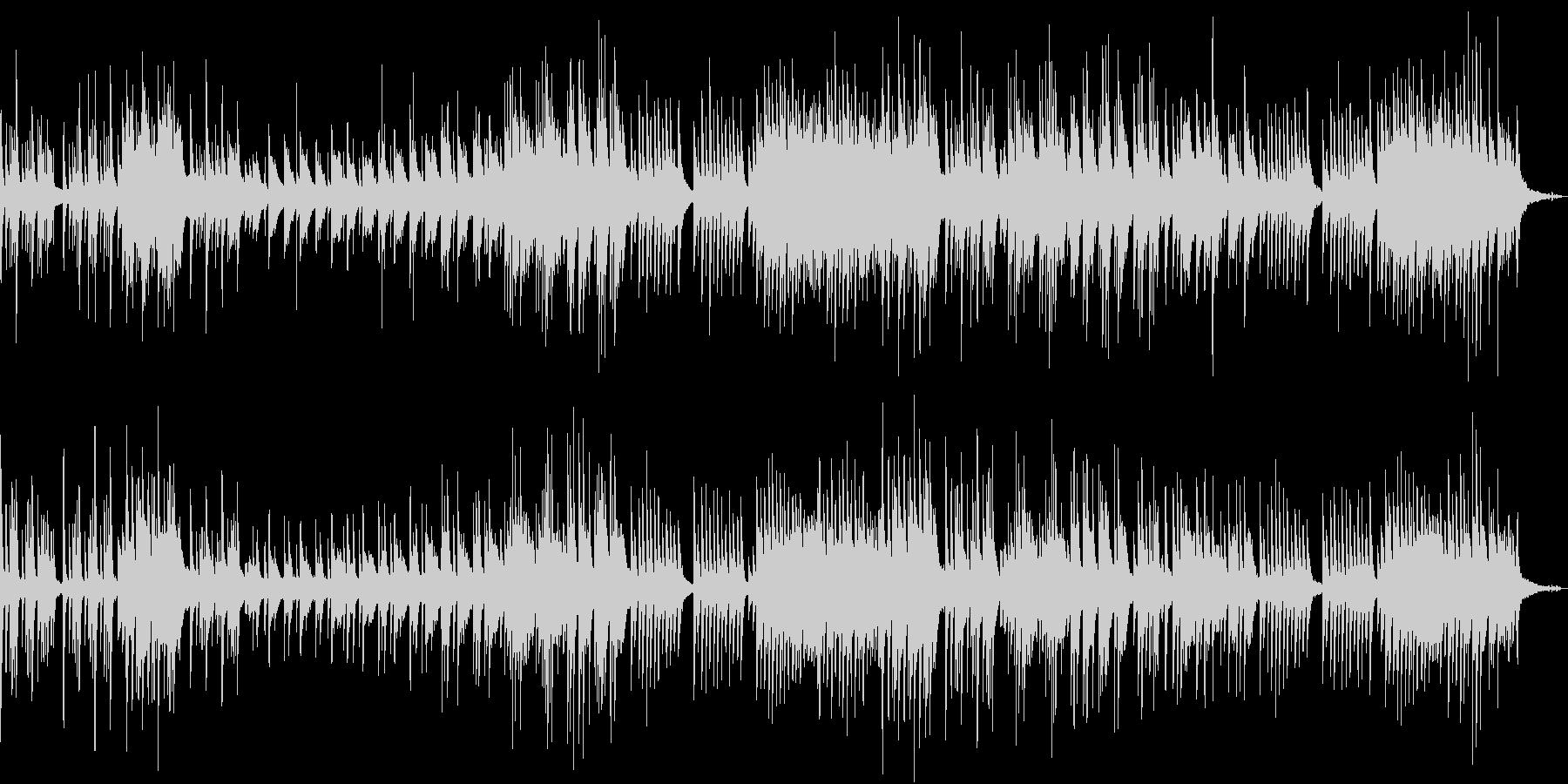 せつないピアノの未再生の波形