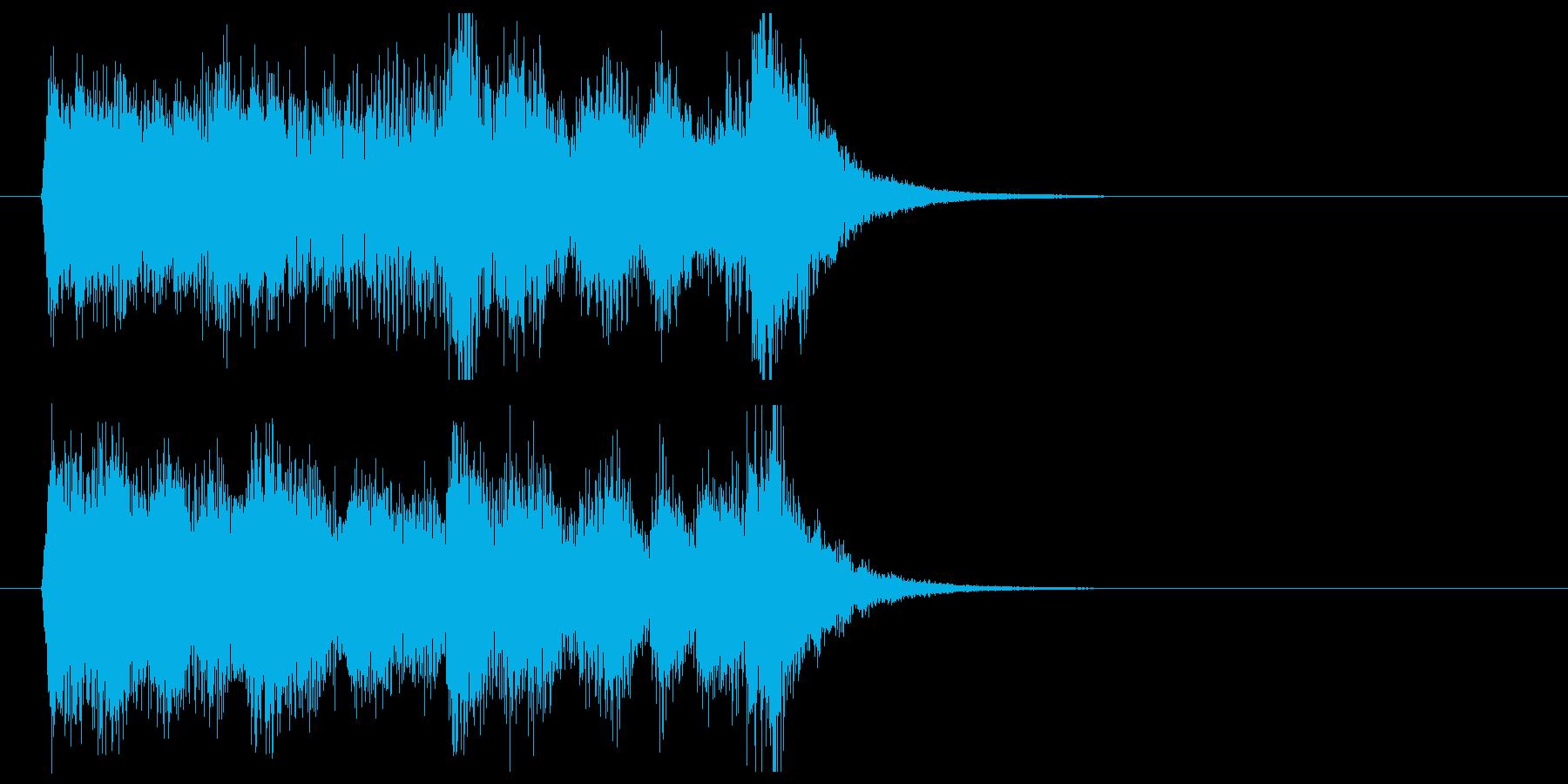 軽快でキャッチーなポップジングルの再生済みの波形