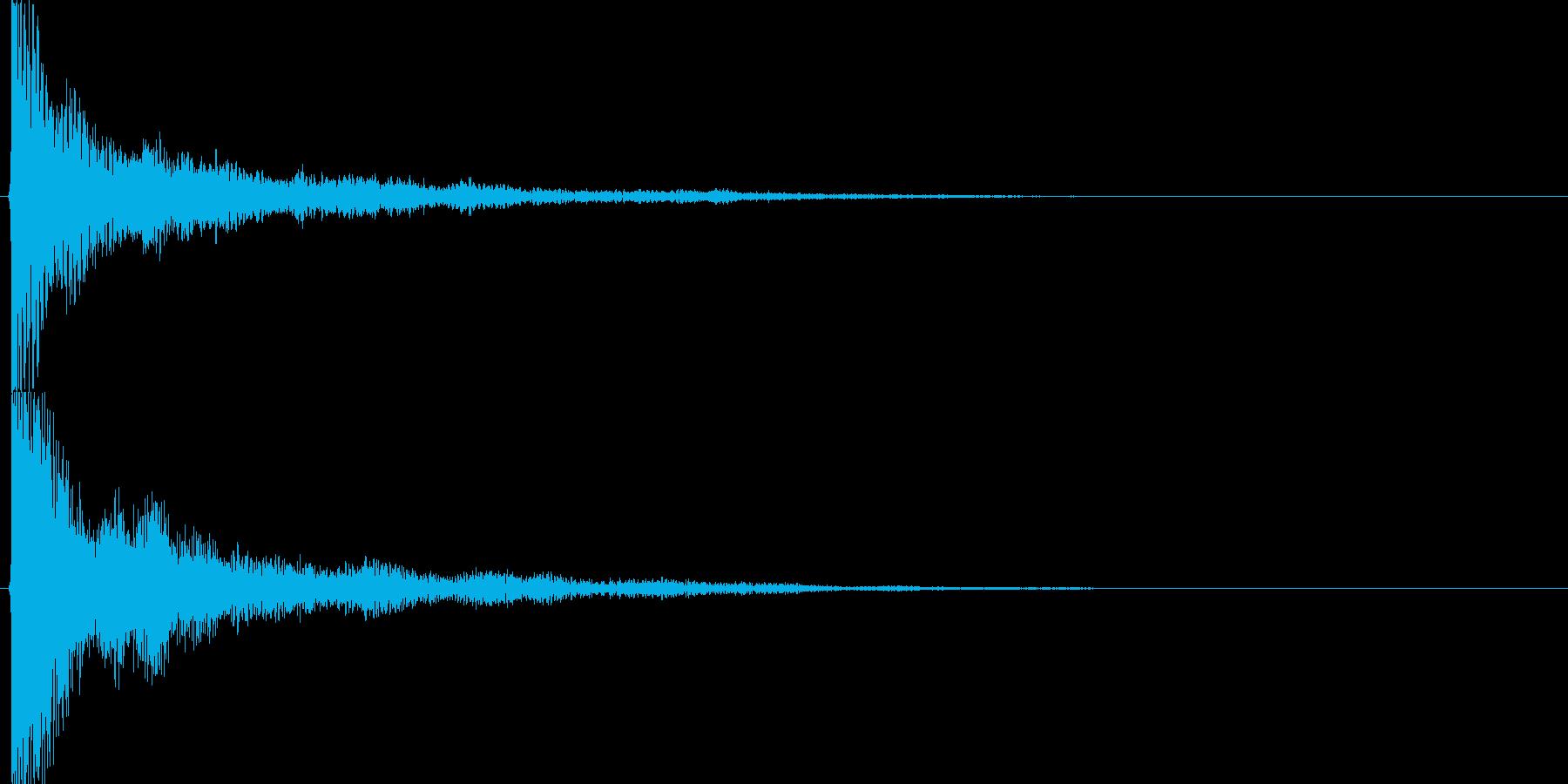 和風クリック音源【-12dBFS】の再生済みの波形