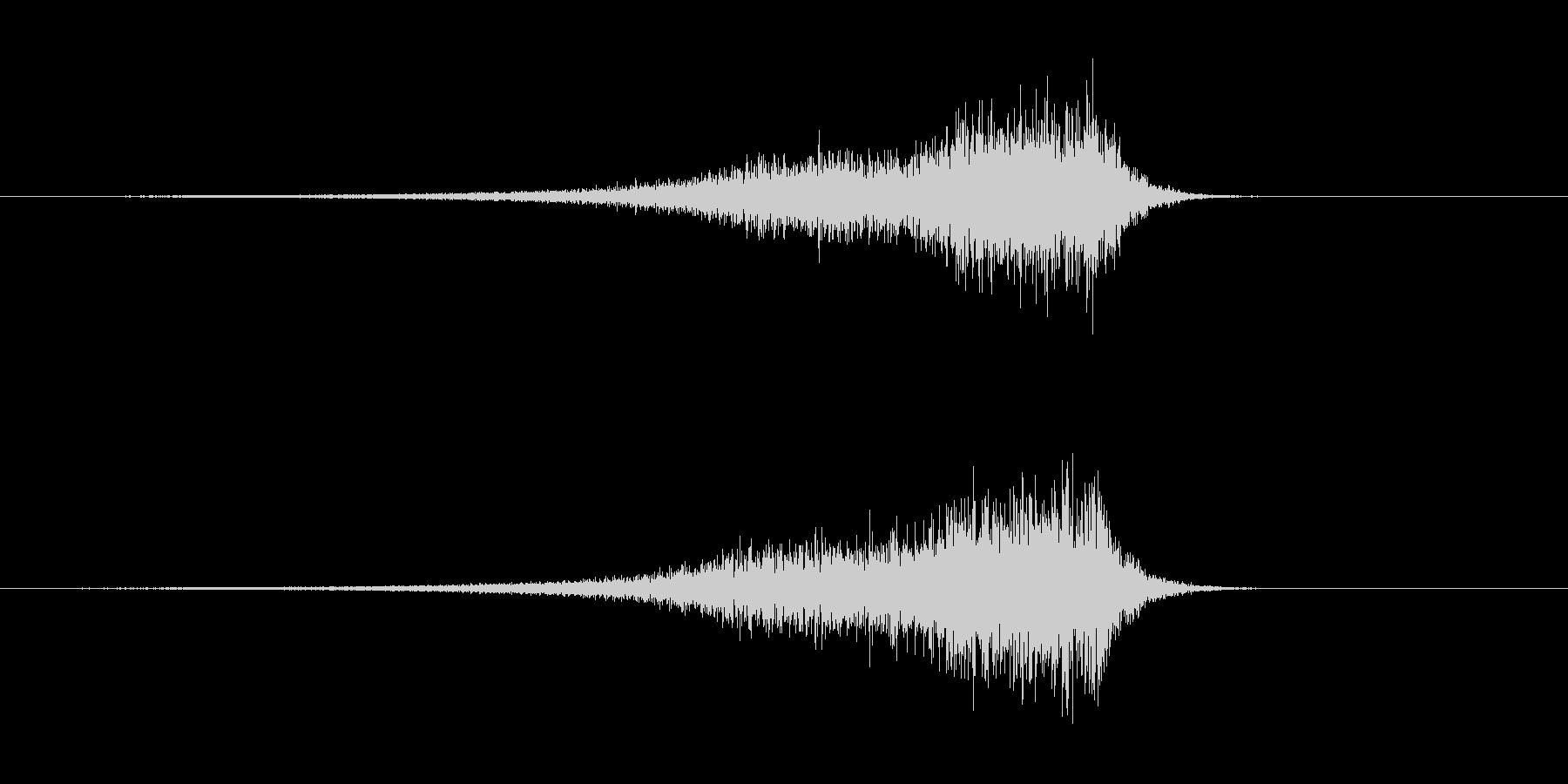 アップリフト系ワンショット(シューッ)の未再生の波形