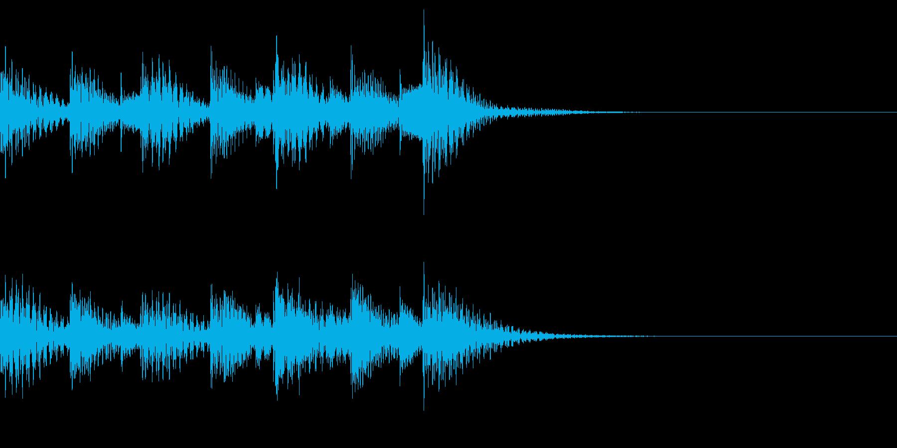 葬送行進曲風のゲームオーバー~低め~の再生済みの波形