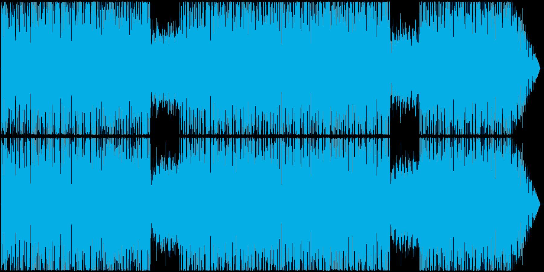レトロで明るく元気なループBGMの再生済みの波形