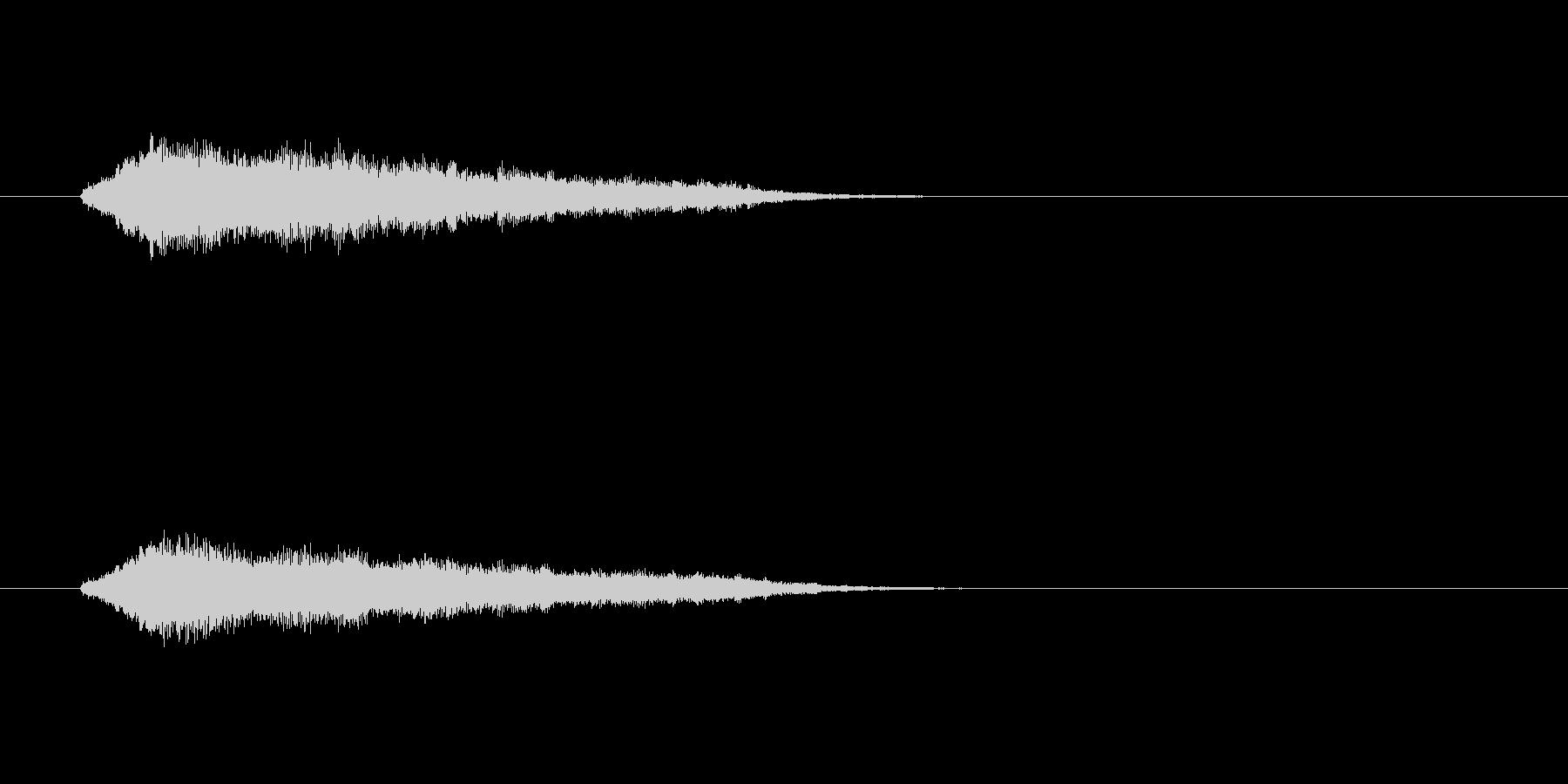 ジングル(SE系)の未再生の波形