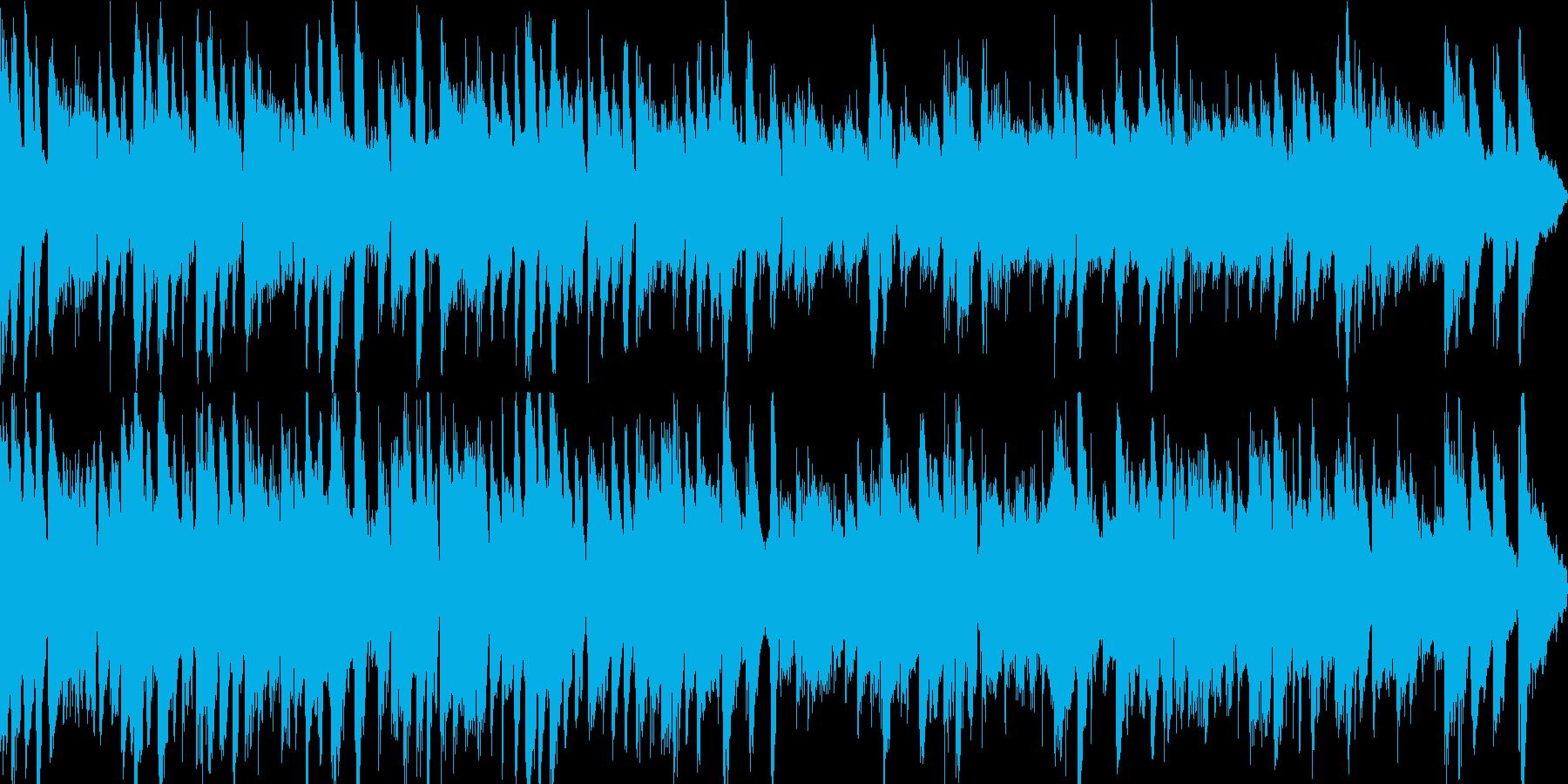 ガットギターによる優しいインスト曲の再生済みの波形