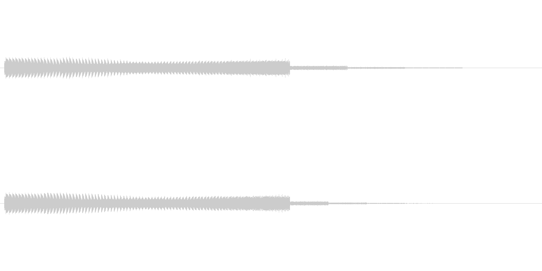シューティングゲーム風のシンセ音の未再生の波形