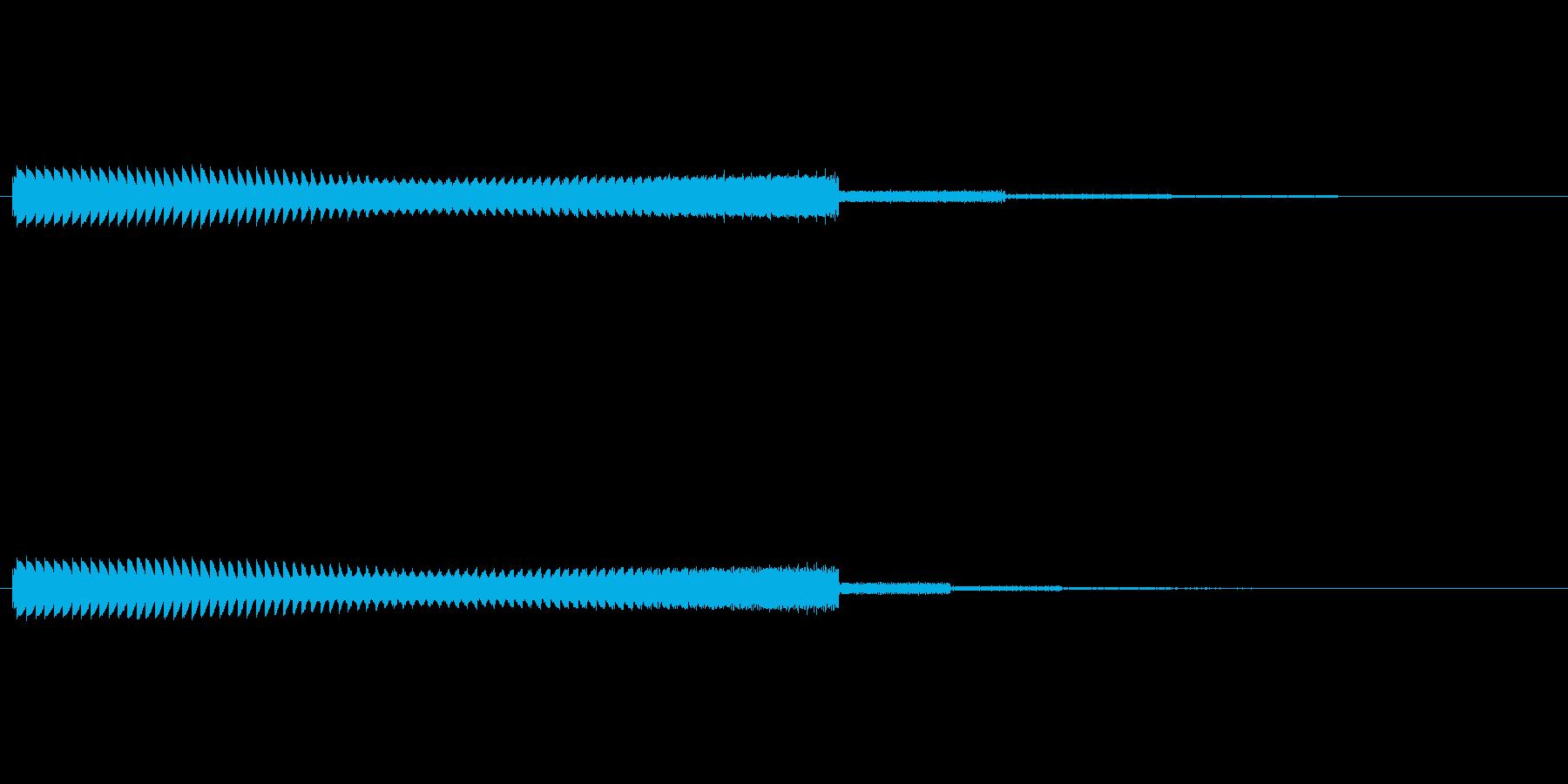 シューティングゲーム風のシンセ音の再生済みの波形
