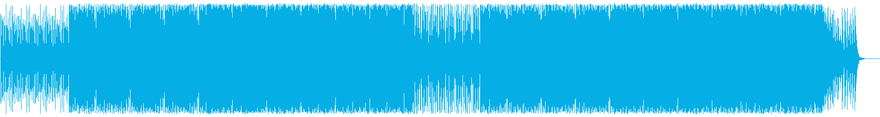 緩やかでクールなピアノテクノビートポップの再生済みの波形