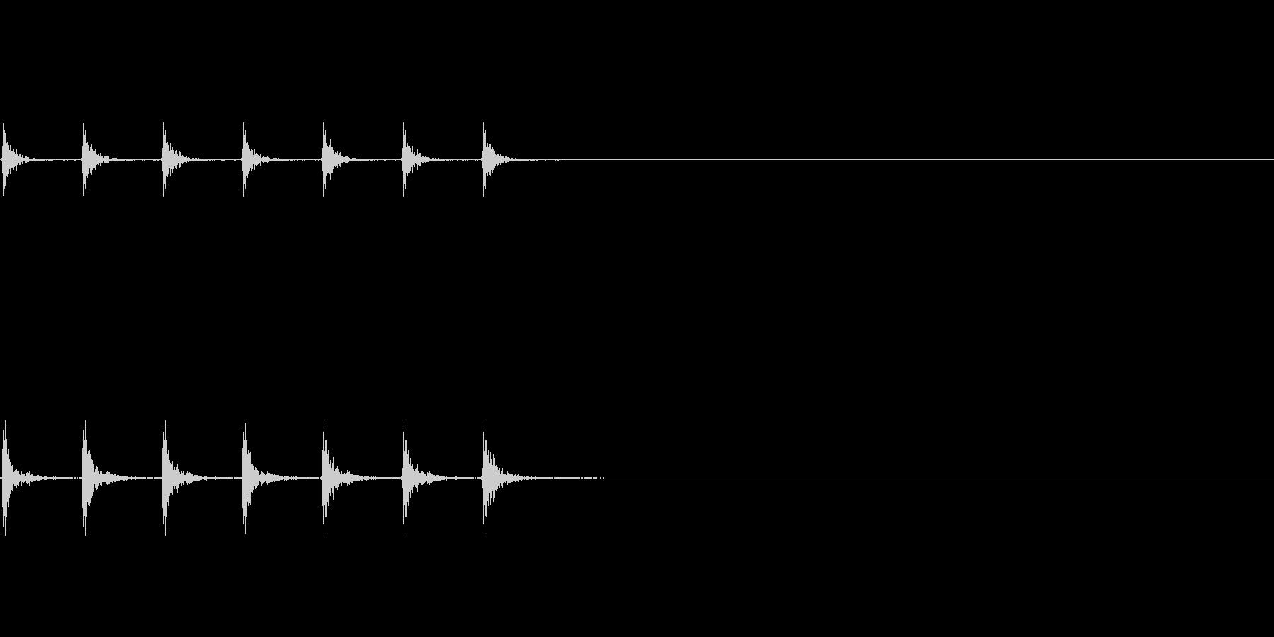 コンコン(まな板と包丁)の未再生の波形
