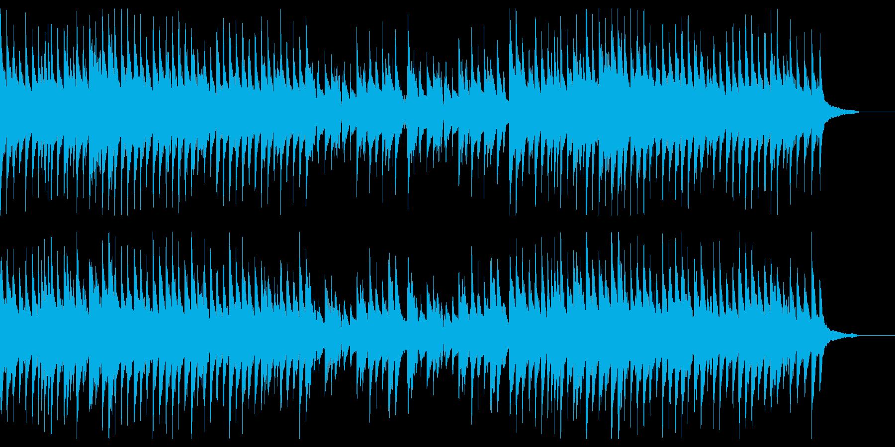 アンニュイなジャズ風のピアノの再生済みの波形