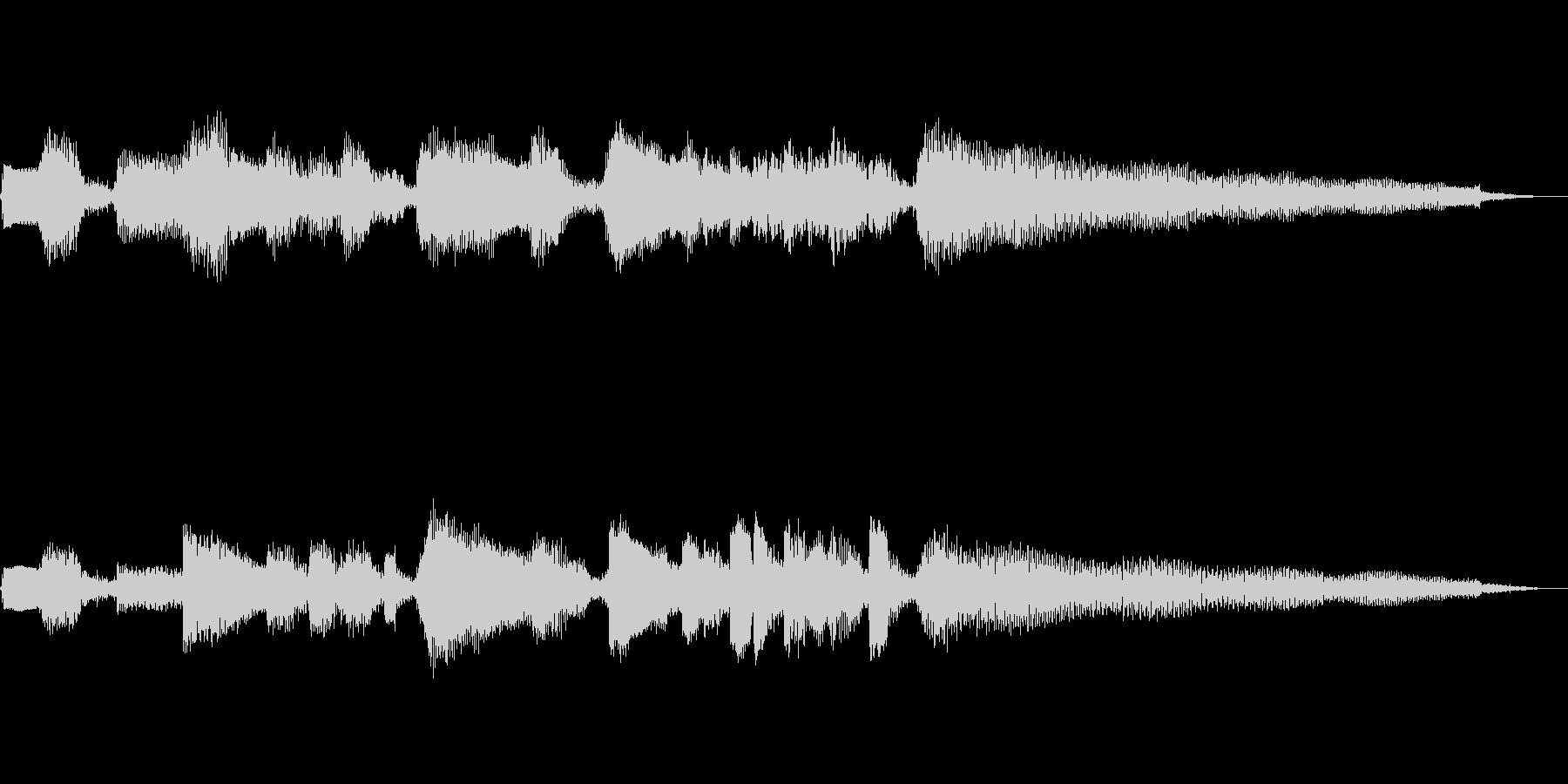 【12秒】ジャズギターのコードとソロの未再生の波形