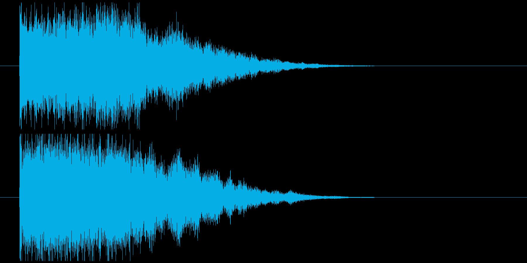 インパクト金属系バキーンの再生済みの波形