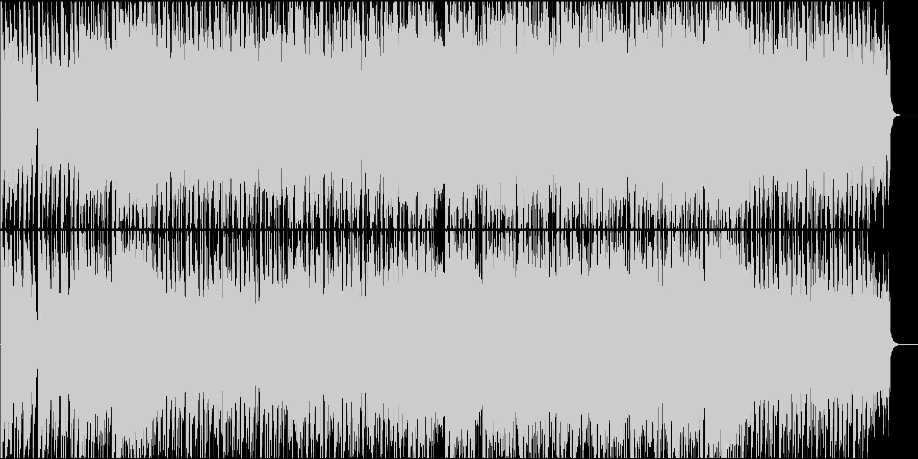 打鍵感の強いピアノが主体のハウスの未再生の波形