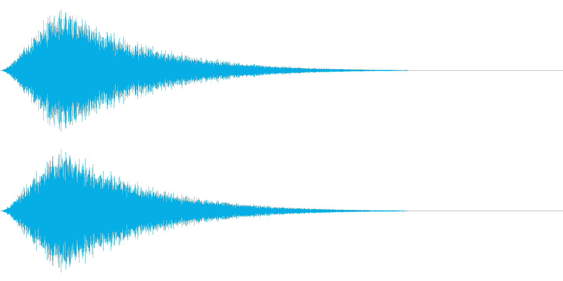 Noise 攻撃をかわす・逃げるSFXの再生済みの波形