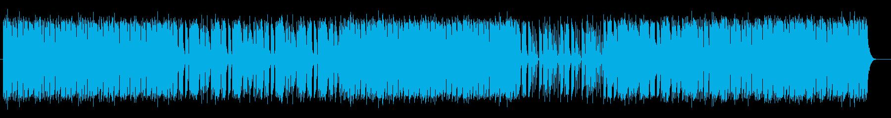 ポップで宇宙感のあるシンセサウンドの再生済みの波形