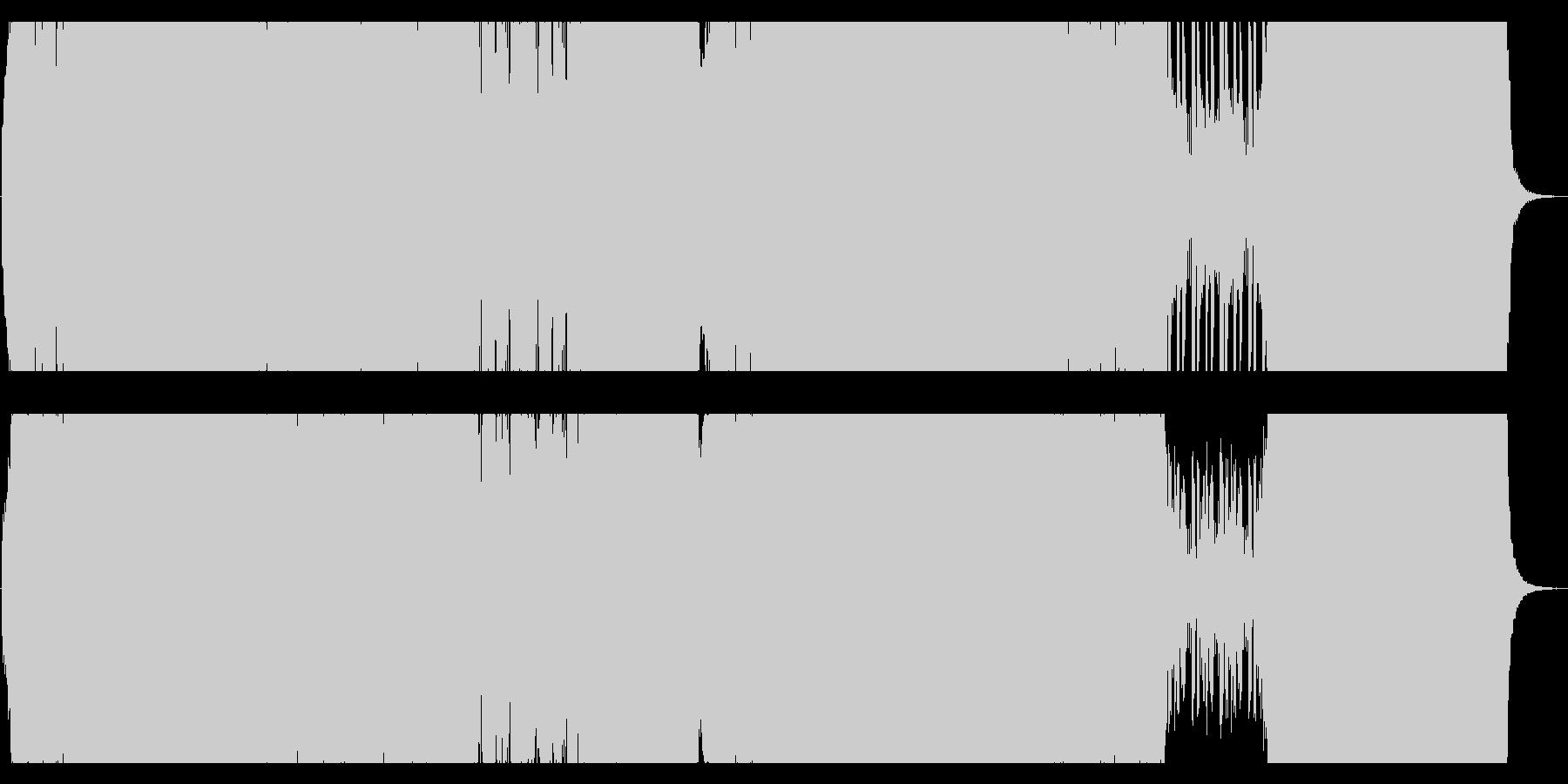ギターカッティングPOPなEDMの未再生の波形