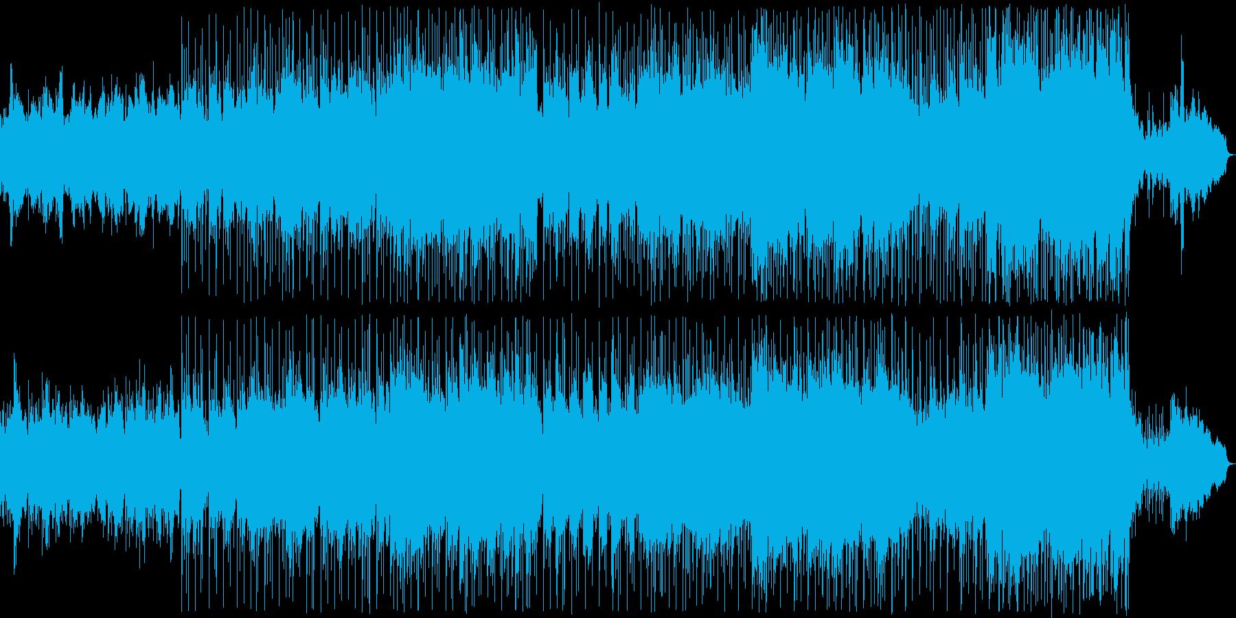 優しい雰囲気のオシャレバラードの再生済みの波形