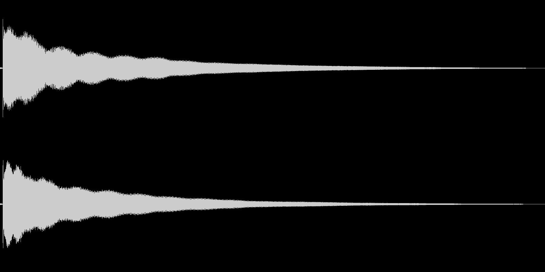 チーン(意気消沈する)の未再生の波形