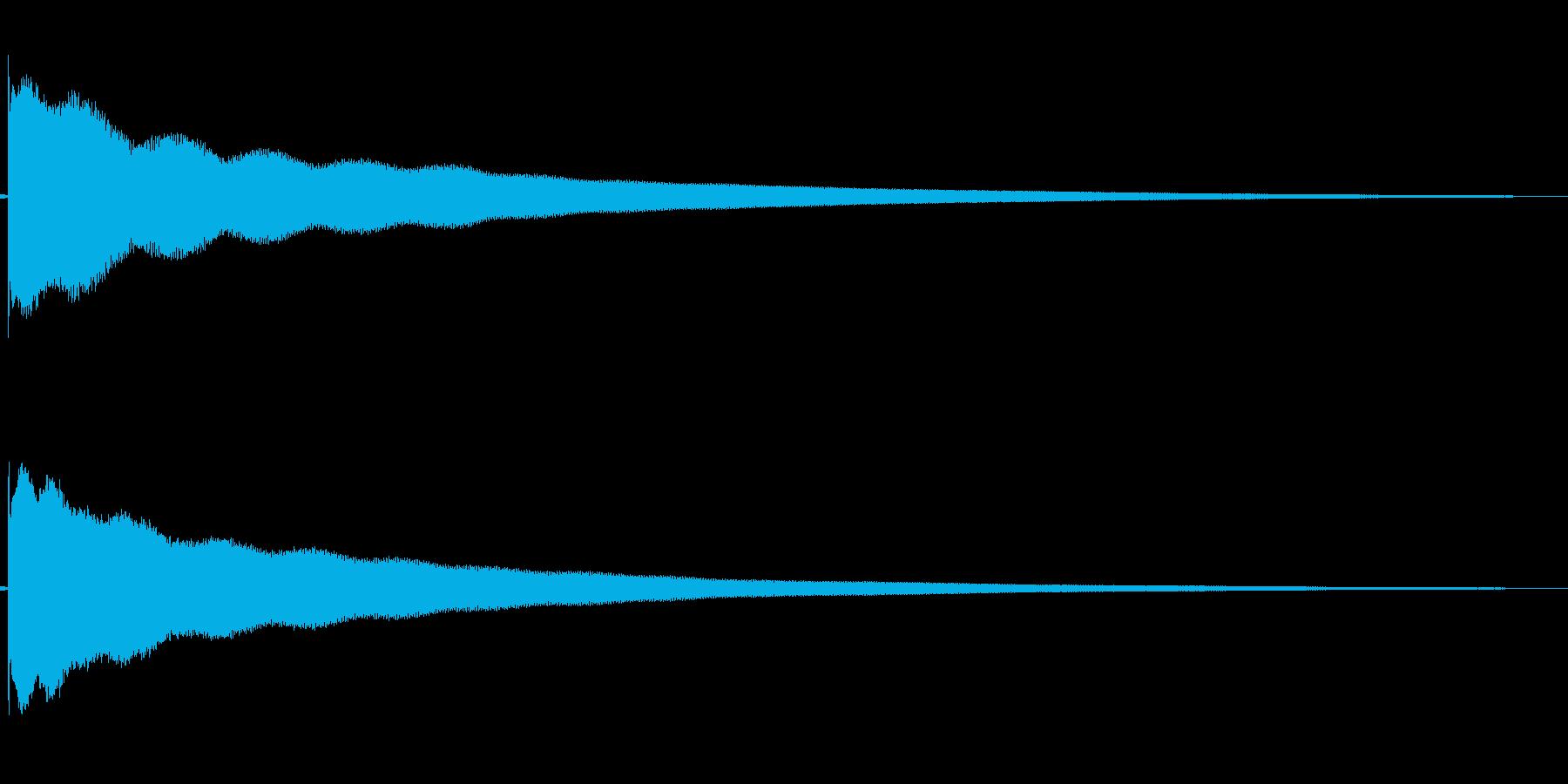 チーン(意気消沈する)の再生済みの波形