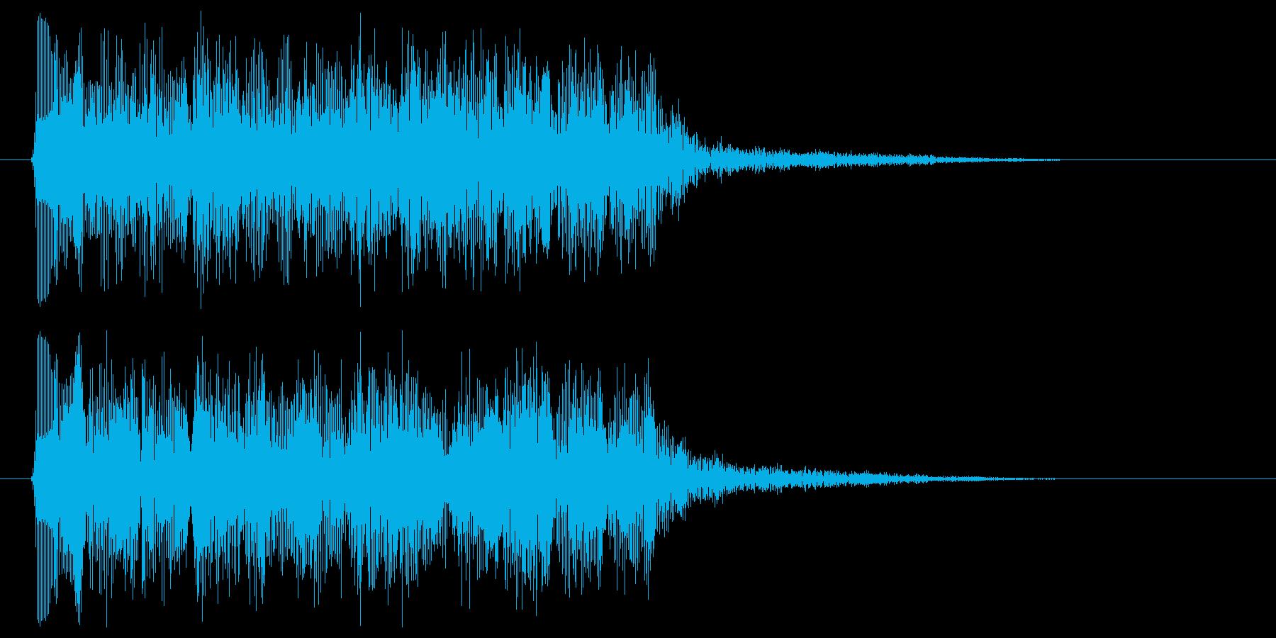 パワーアップ 効果の発動音 ぽわ ぷわの再生済みの波形