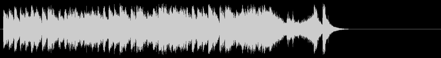 和やかなポップ BGM(サビ)の未再生の波形