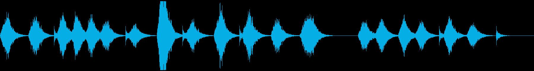 宇宙深海っぽいアンビエントの再生済みの波形