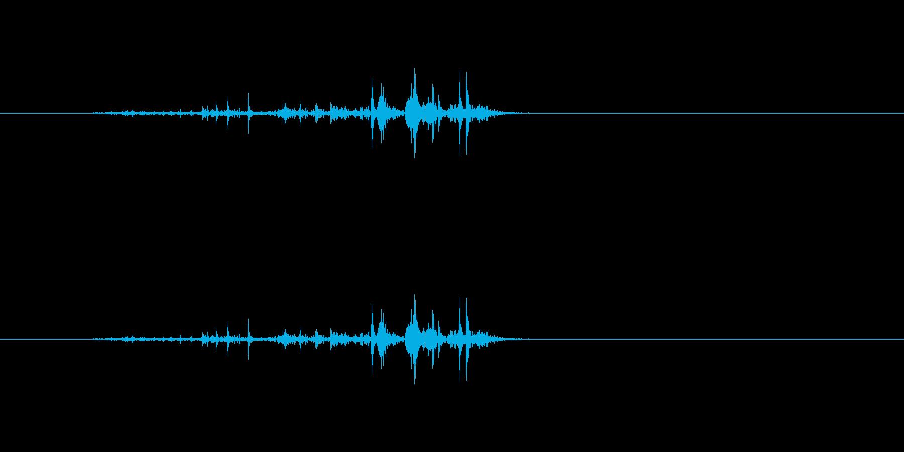 【雑誌01-5(パラパラ)】の再生済みの波形