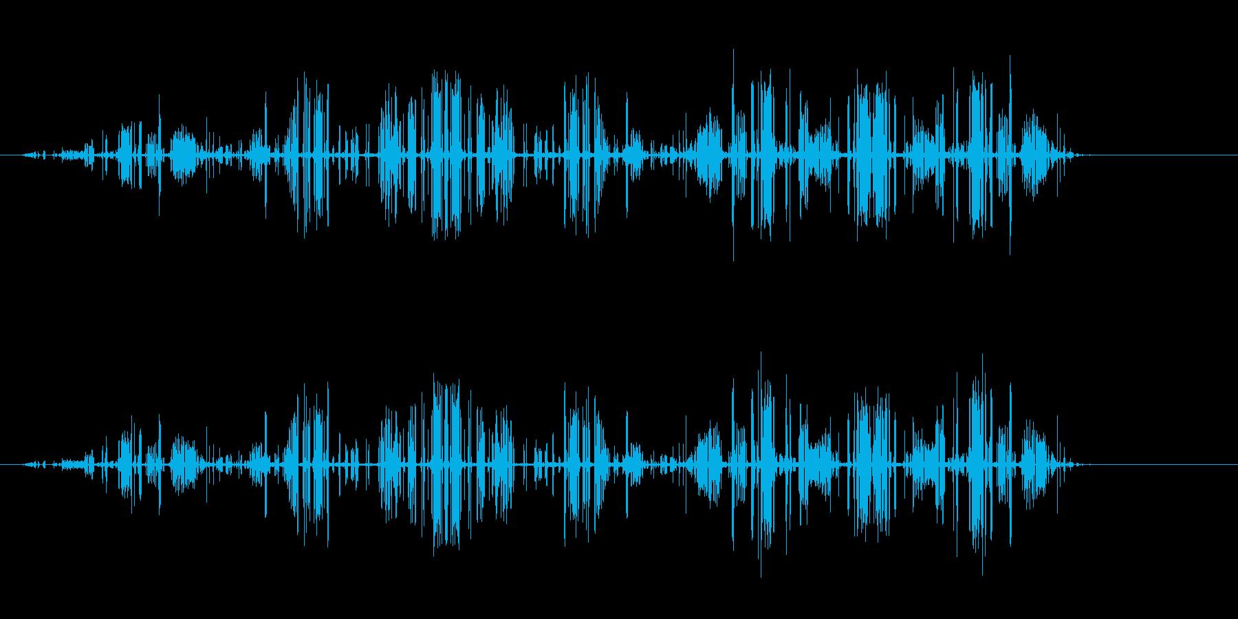 【電気の音】電流、ビビッ、バリバリ、ビリの再生済みの波形