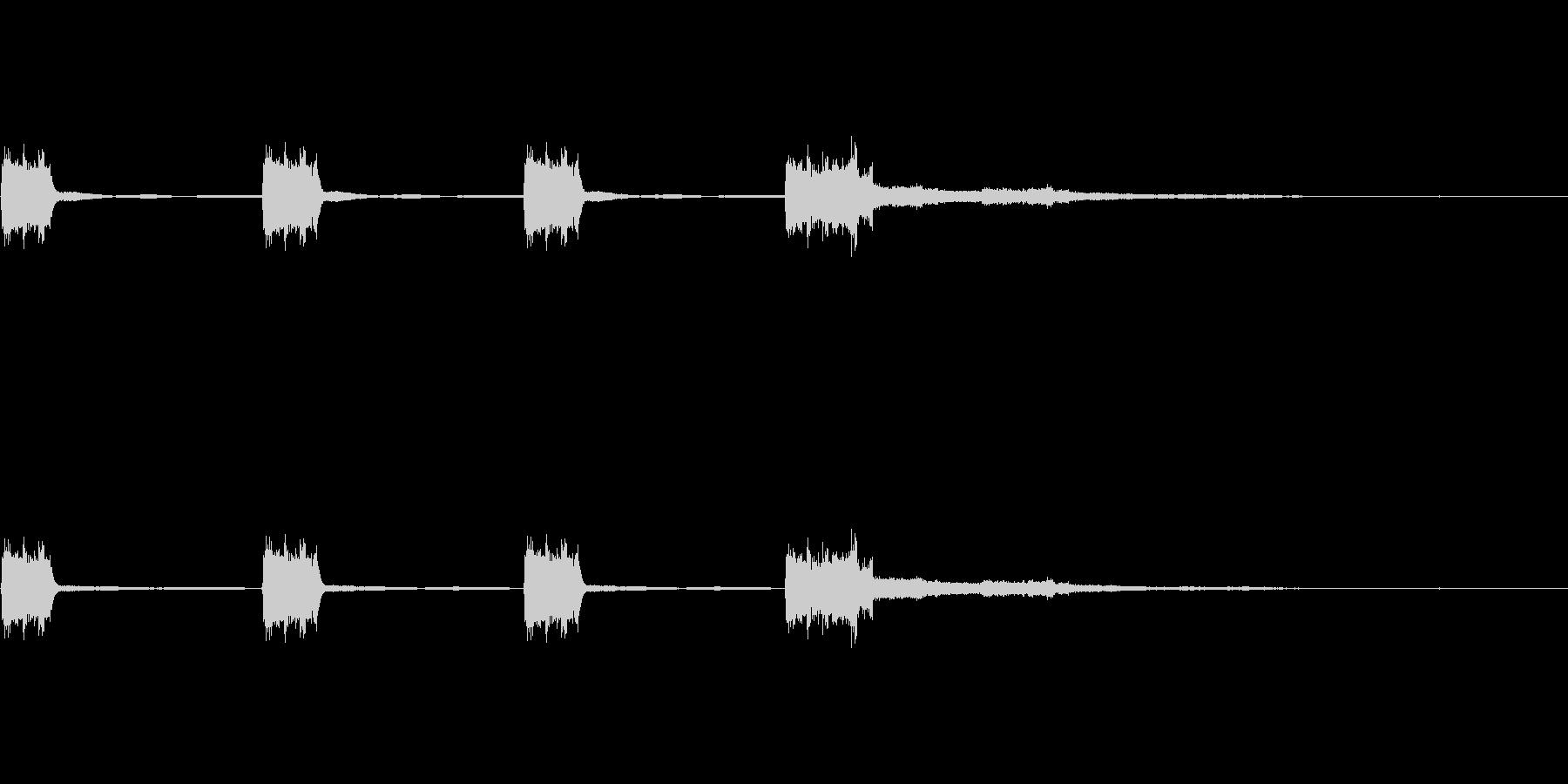 カウントダウン(時報)の音2の未再生の波形