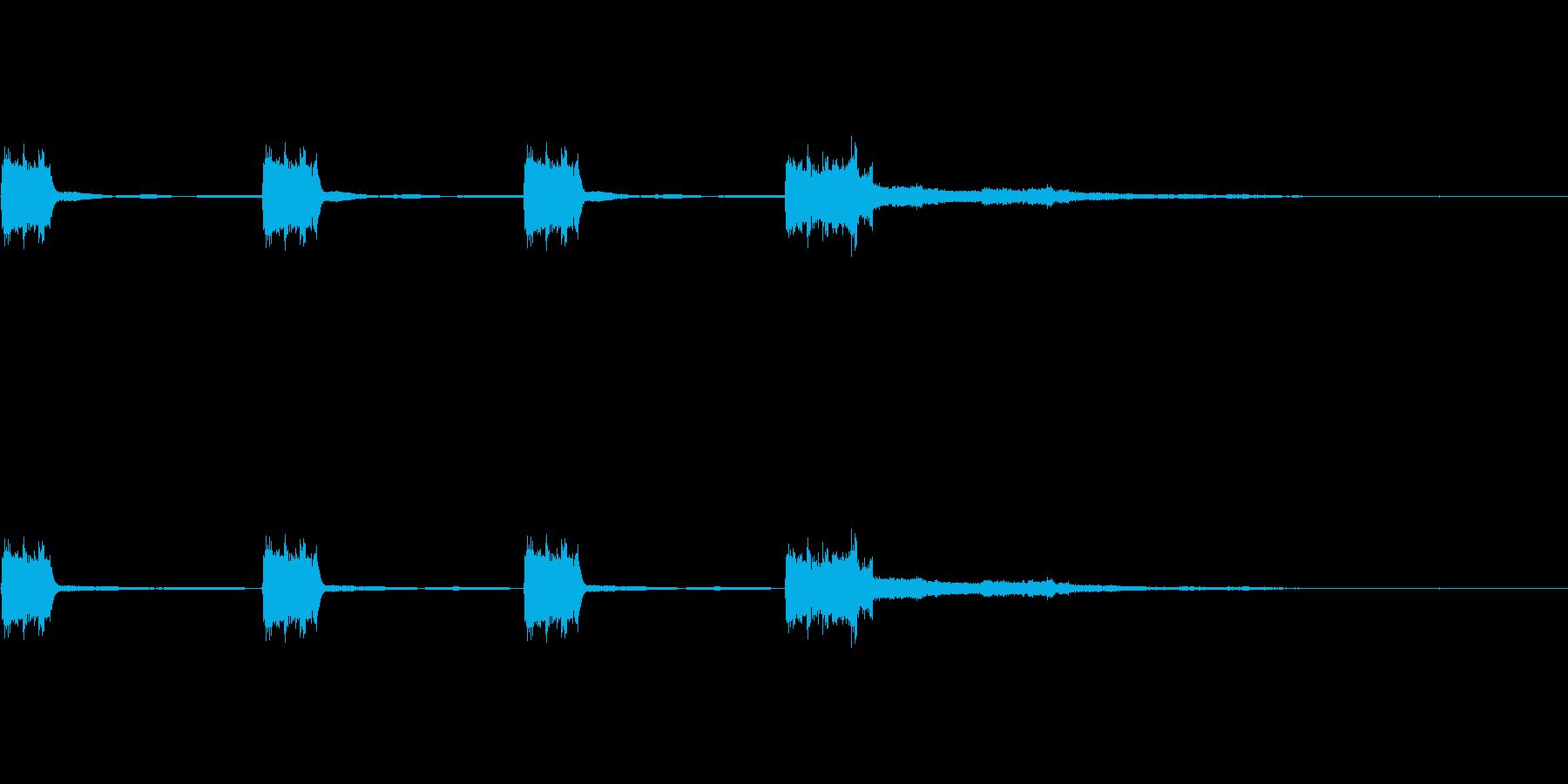 カウントダウン(時報)の音2の再生済みの波形
