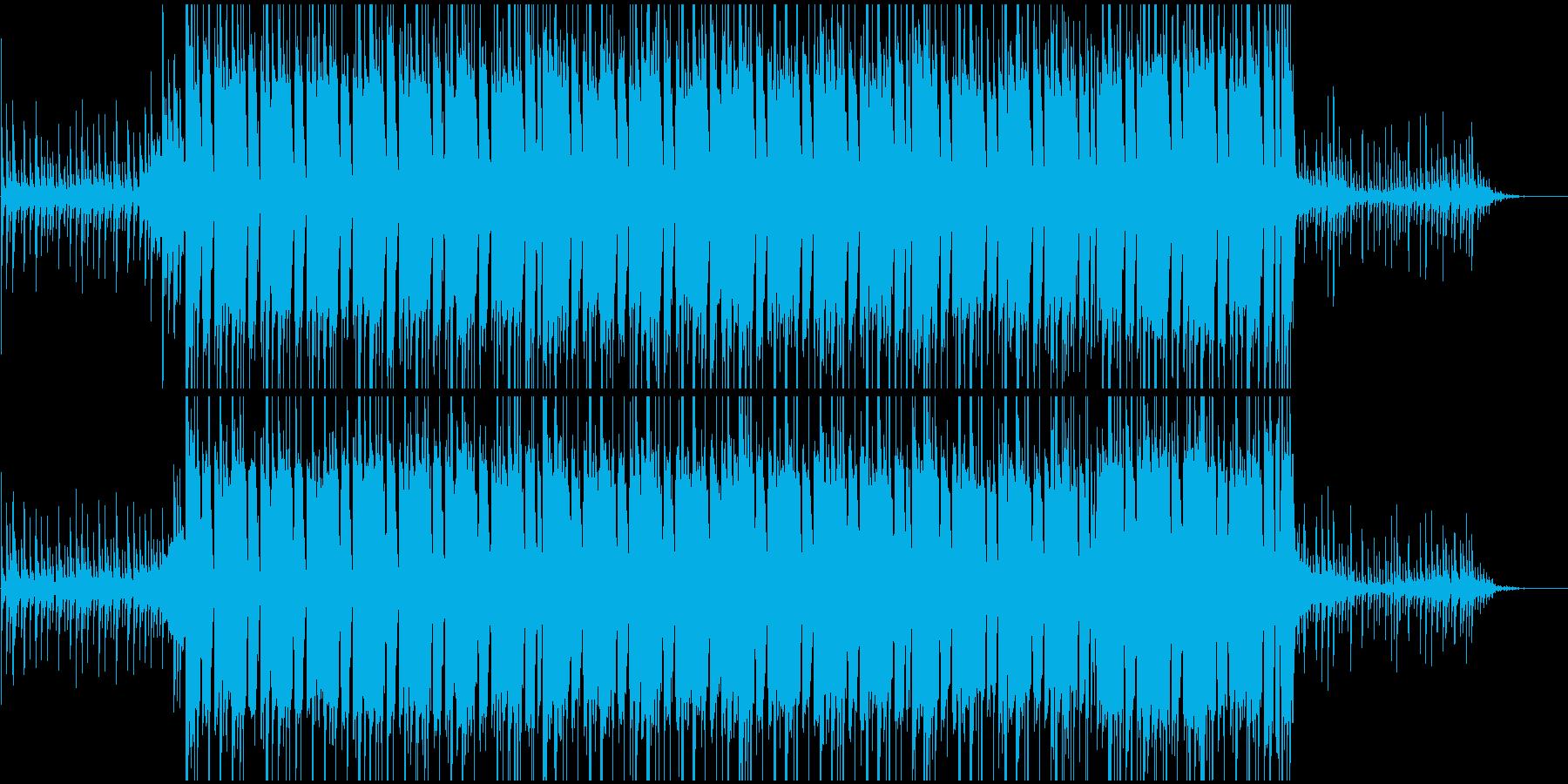 フラット〜明るめの場面用BGMの再生済みの波形