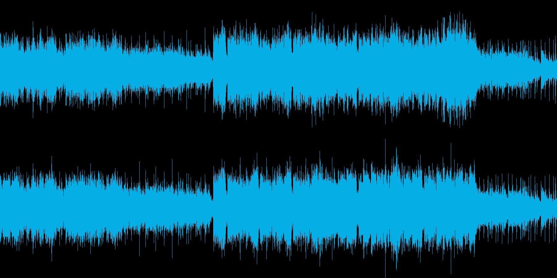 感動のファンタジー系ループ曲の再生済みの波形