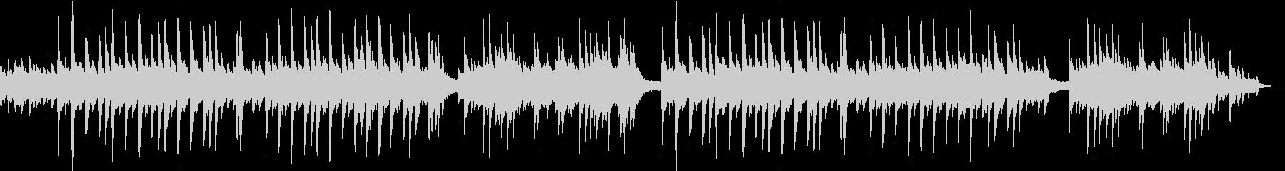 優しいイメージのソロピアノ曲の未再生の波形