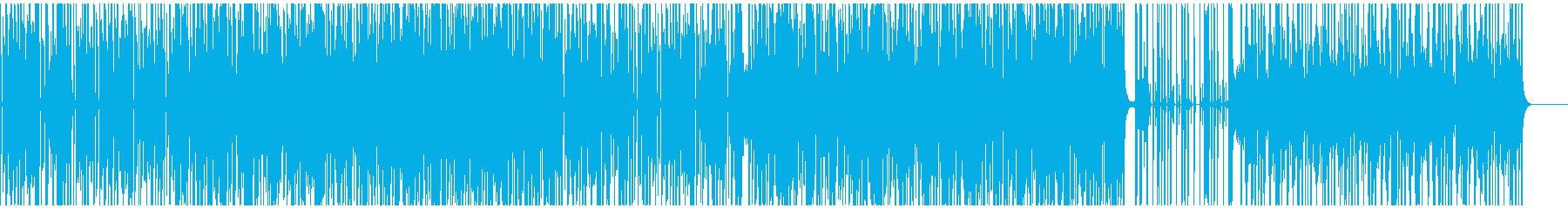 ファンキーなオルガンのクールなBGMの再生済みの波形