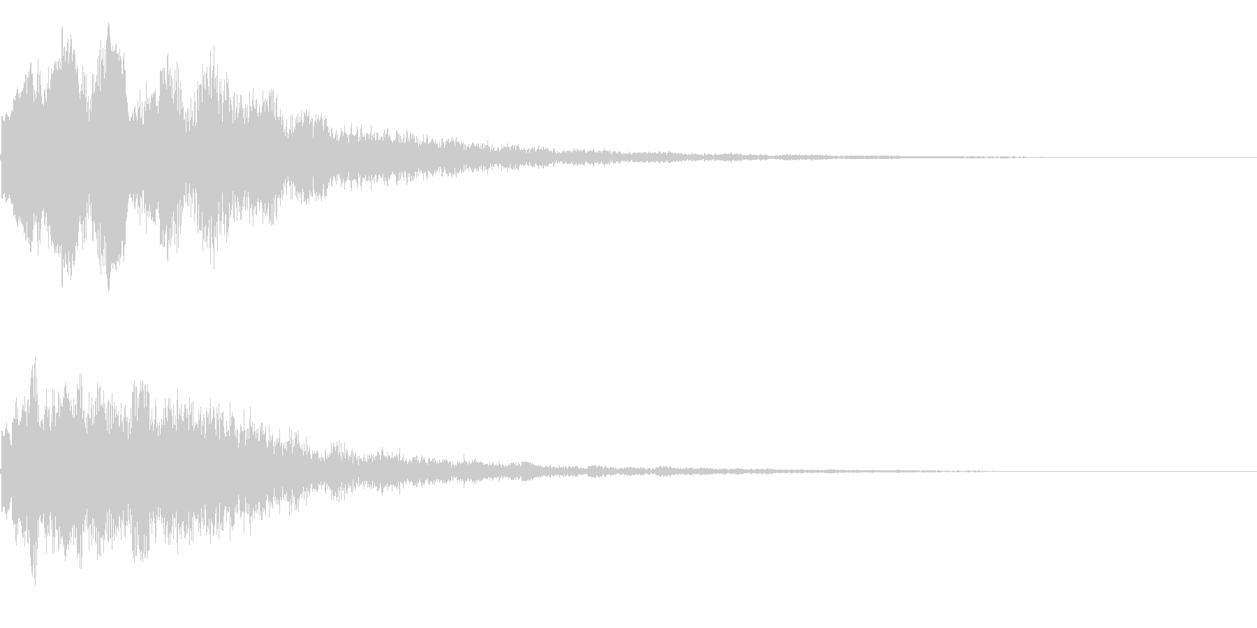 キラーン(星、光、魔法、テロップ等)3cの未再生の波形