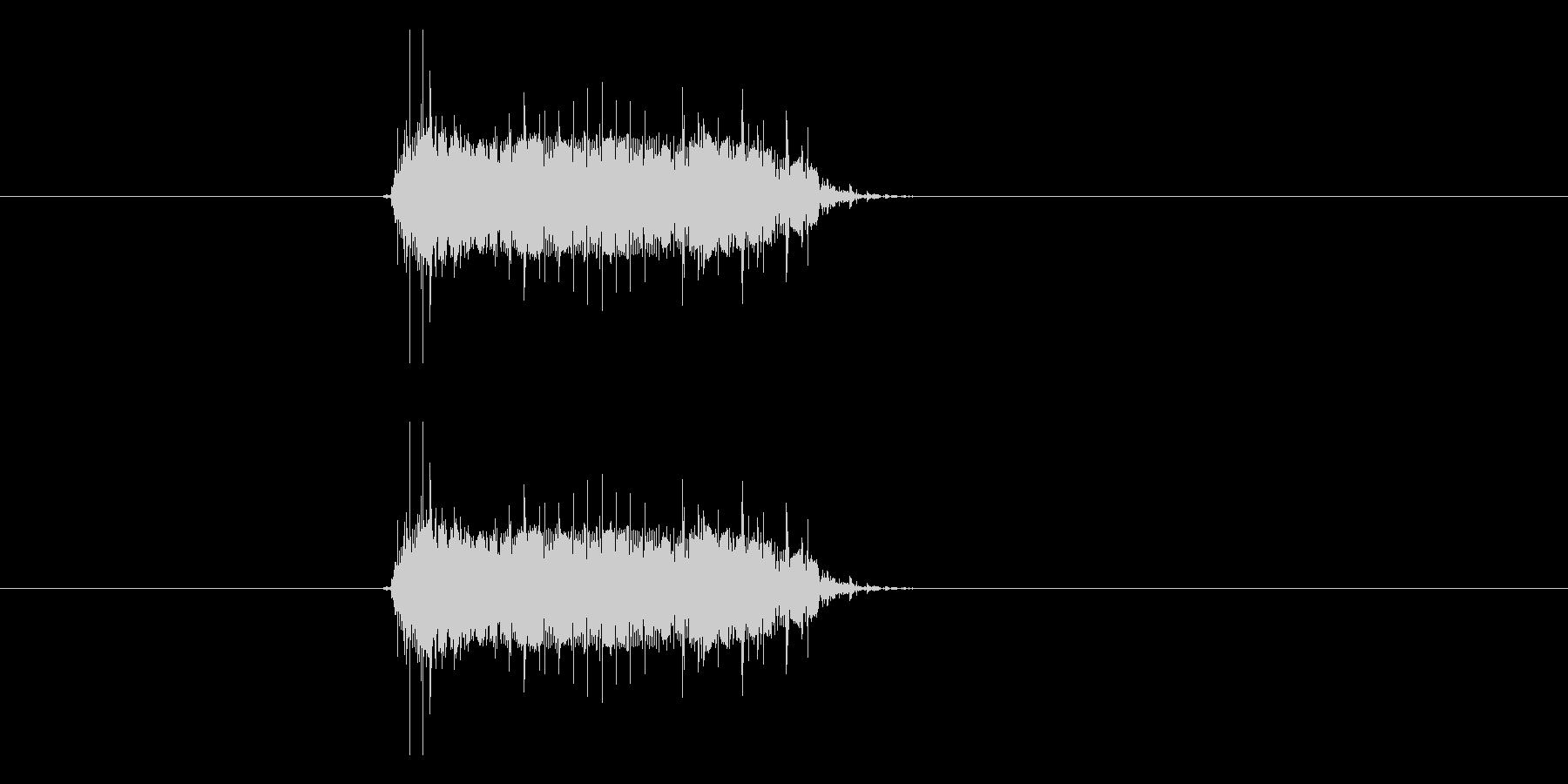 ブーーーの未再生の波形