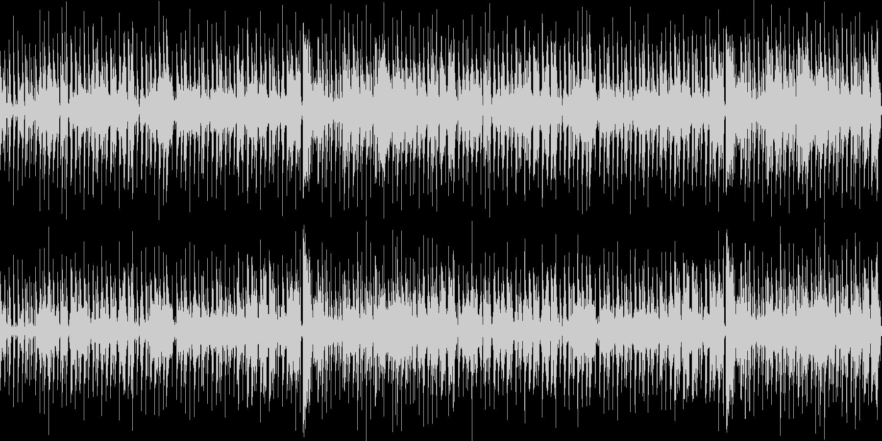 ほのぼのした日常系のループBGMの未再生の波形