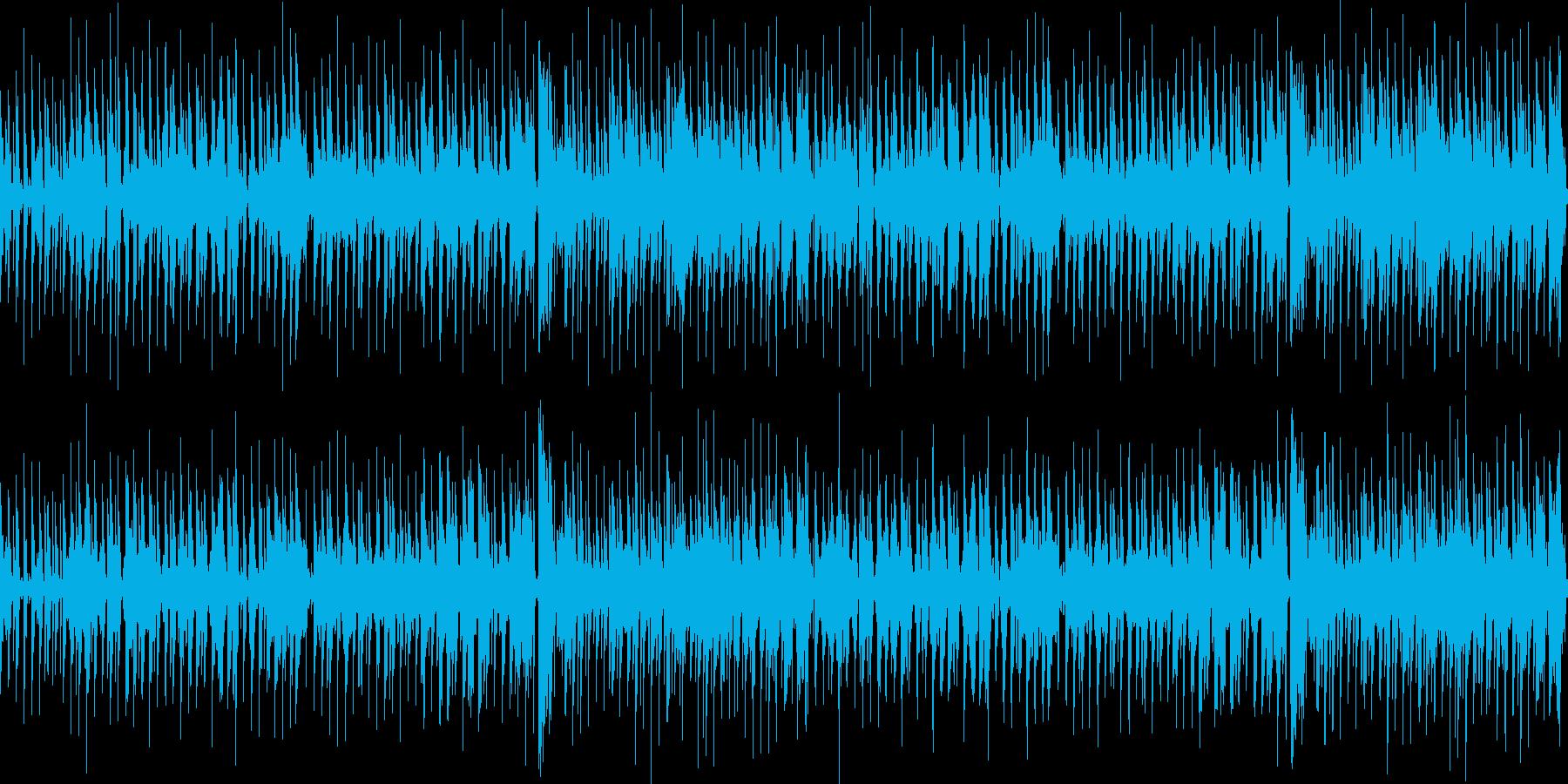 ほのぼのした日常系のループBGMの再生済みの波形