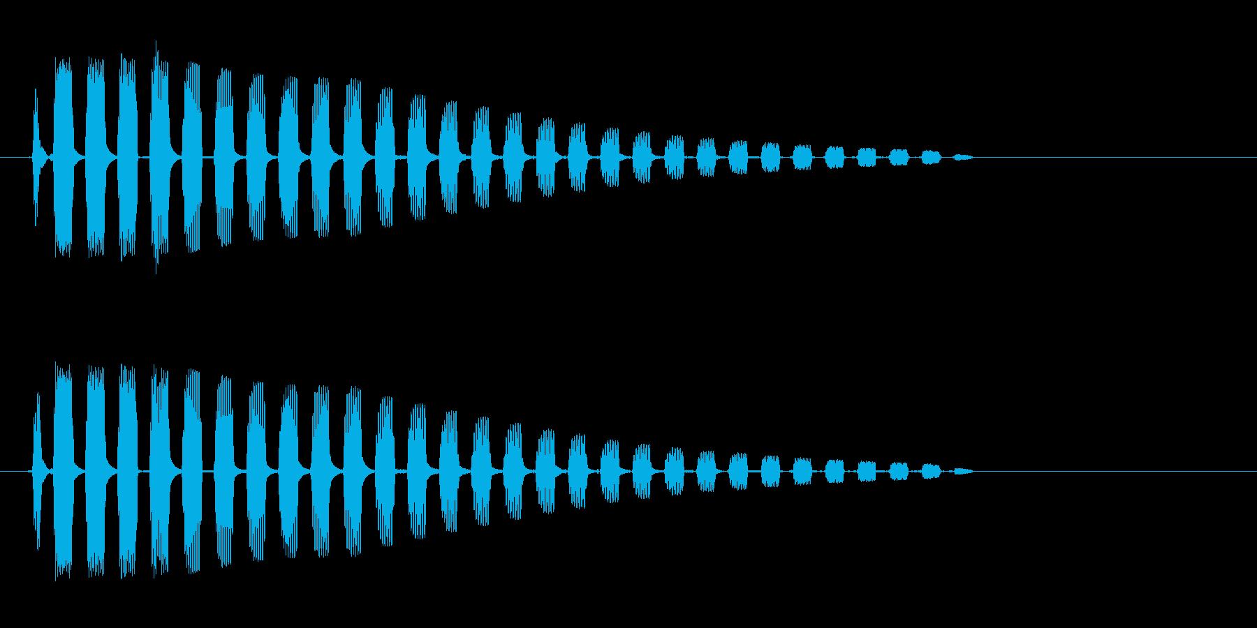 ビヨンッ (生物が跳ねる音)の再生済みの波形