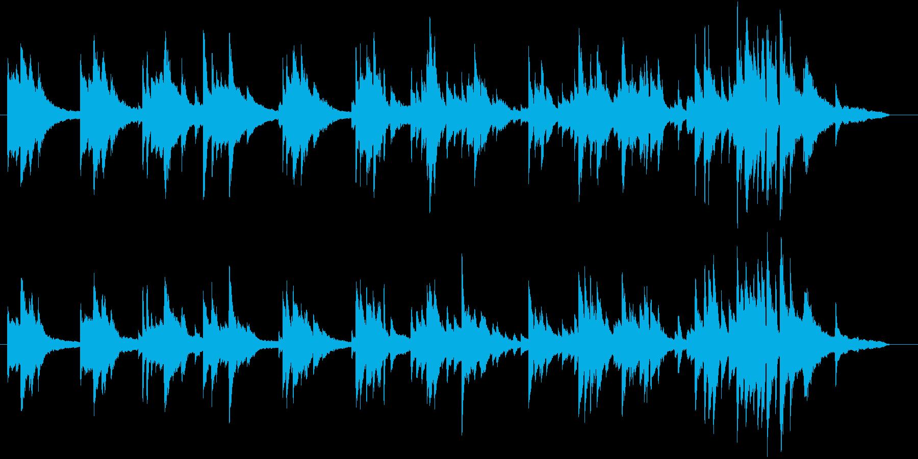 生ピアノ録音-青空のように澄んだメロディの再生済みの波形